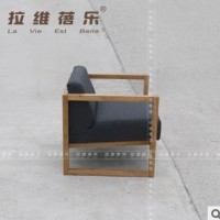 供应甜品店实木单人沙发(甜点屋沙发)布艺沙发