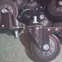 唯信脚轮  3寸全黑脚轮带s刹车电视支架,移动电视支架专用,转动灵活,载重强  脚轮厂家