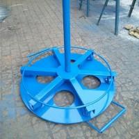厂价直销 3T 5吨轻便型电缆盘放线支架 手摇提升放线架 机械滚轮线盘提升机
