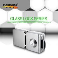 新成达X-202 不锈钢玻璃门锁 双边 方锁