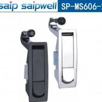 MS606-2按钮式机柜锁 弹跳式门锁 亚光黑锁 赛普机械门锁
