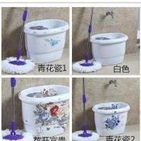 新款青花瓷拖布盆 椭圆形拖把池 陶瓷自动下水阳台卫生间墩布池